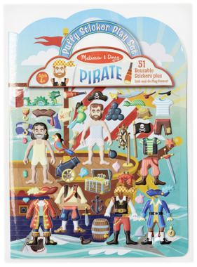 Melissa & Doug Pirate Reusable Puffy Stickers 9102