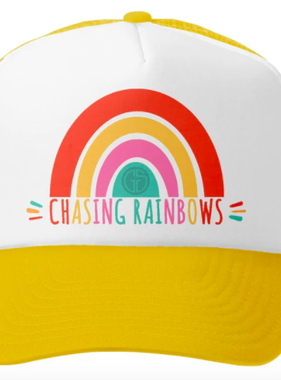 Grom Squad Chasing Rainbows Trucker Hat, Yellow/Wht