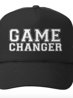 Grom Squad Game Changer Trucker Hat, Black/Black