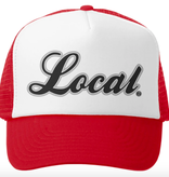 Grom Squad Local Trucker Hat, Red/White