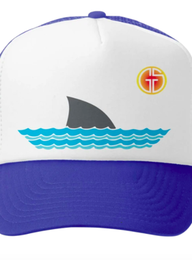 Grom Squad Sharky Trucker Hat Royal/White