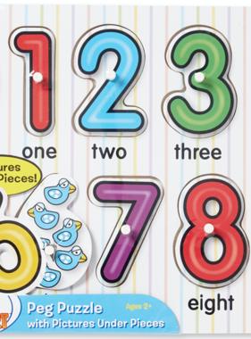Melissa & Doug See Inside Numbers Peg Puzzle 3273