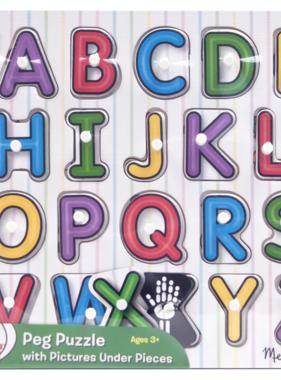 Melissa & Doug See Inside Alphabet Peg Puzzle 3272 YES
