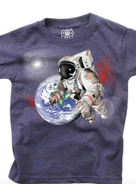 Wes And Willy S/S Astronaut Tee Midnight