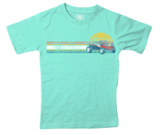 Wes And Willy Dune Buggy Tee Seaglass