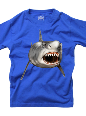Wes And Willy Shark S/S Tee Blue Moon