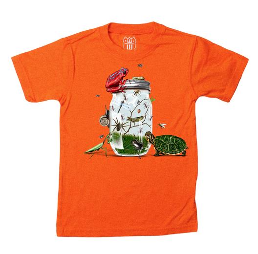 Wes And Willy Bug Jar S/S Tee-Orange Crush