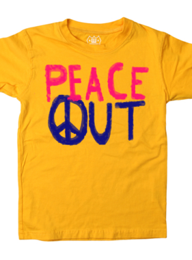 Wes And Willy Peace Out SS Tee Bold-Gold