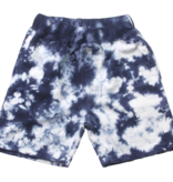 Wes And Willy Tie Dye Fleece Short-Midnight