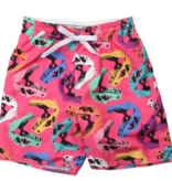 Wes And Willy Dinos Trunk-Hot Pink