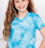 Candy Pink T-Shirt Blue Tie Dye