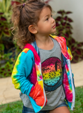 Flowers By Zoe BFJ132TS JACKET MULTY BRITE Tie DYE