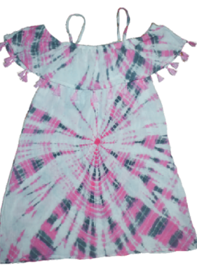 Flowers By Zoe YKRD10TX Dress Pink White Bullseye