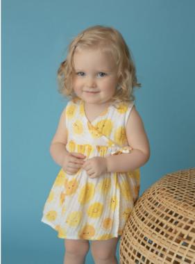 Angel Dear Sunshine Kimono Dress/Diaper Cover