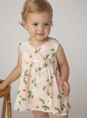 Angel Dear Magnolias Faux Kimono Dress/Diaper Cover