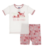 Kickee Pants S/S Short PJ Set-Strawberry Domestic Animals