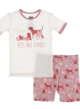 Kickee Pants S/S Short PJ Set-Strawberry Domestic Animals