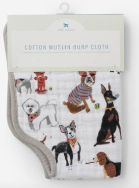 Little Unicorn Cotton Muslin Burp Cloth-Woof