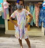 Cruz Flutter Sleeve Fit & Flare Dress-Summer Rain