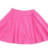 Bella Beach Kids Skort Confetti Heart Hot Pink