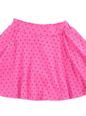 Bella Beach Kids Skort Confetti Heart Hot Pink