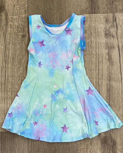 Cruz Fit & Flare Tank Dress-Star Dye