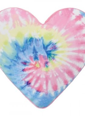 Iscream 780-1529 Tie Dye Heart Bubblegum Scented Microbead Pillow