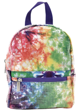 Iscream 810-1093 Sequin Tie Dye Mini Backpack