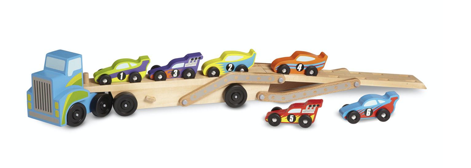 Melissa & Doug Mega Race-Car Carrier 2759