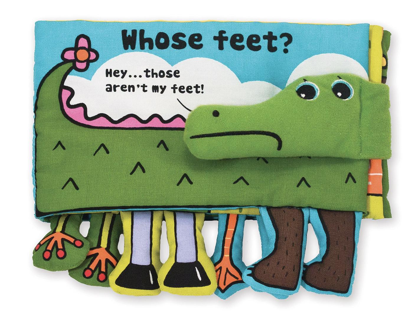 Melissa & Doug Whose Feet? Ks Kids Cloth Book 9203
