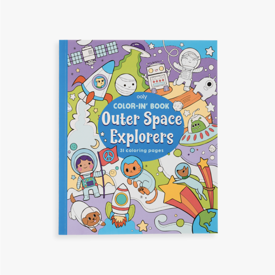 Ooly 118-204 Color-in Book: Outer Space Explorers