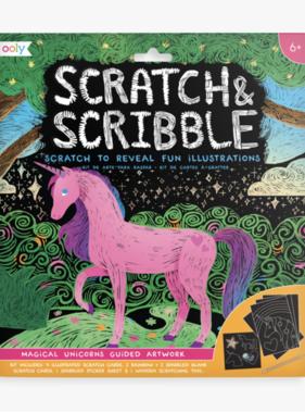 Ooly 161-027 Scratch & Scribble Art Kits: Magical Unicorns