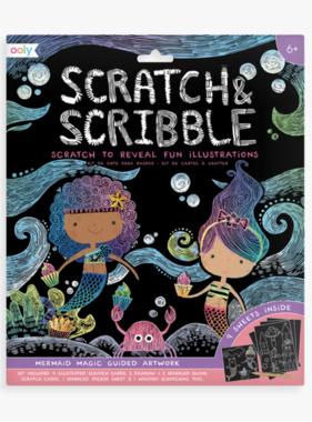 Ooly 161-037 Scratch & Scribble Art Kits: Mermaid Magic