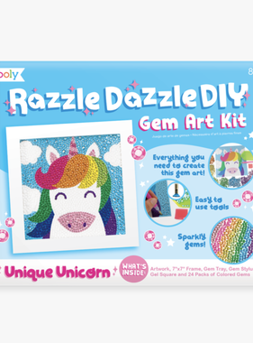 Ooly 161-047 Razzle Dazzle Gem Art Kit: Unique Unicorn