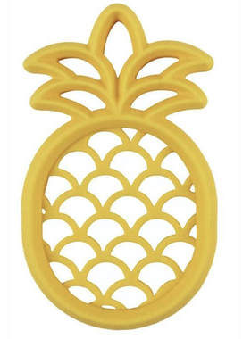 Itzy Ritzy SLT8327 Chew Chew Silicone Baby Teether: Pineapple