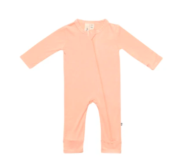 Kyte Baby Zippered Romper Papaya