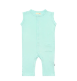 Kyte Baby Zipper Sleeveless Romper Sea Mist