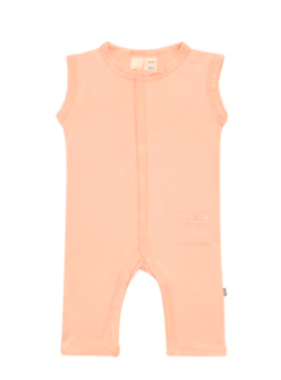 Kyte Baby Zipper Sleeveless Romper Papaya