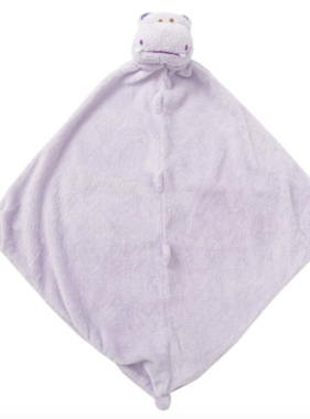Angel Dear 1148 Purple Hippo Blankie