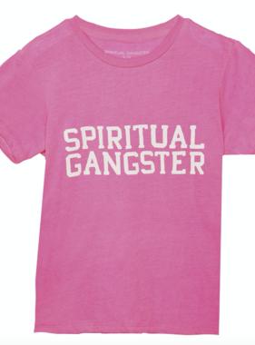 Spiritual Gangster SG Varsity Kids Tee Cotton Candy