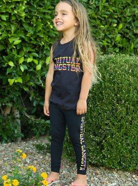 Spiritual Gangster SG Varsity Girls Muscle Tank Vintage Black