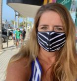Face Mask SHCRA 209 ADULT NAVY DAISY / NAVY DOTS 2PK MASK SET