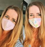 Face Mask SHCR 101 -MULTI TIE DYE / LILAC STRIPE 2PK KIDS FACE MASK SET