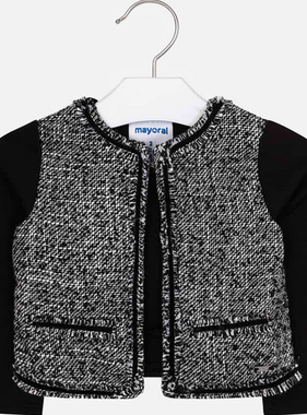 Mayoral 4406 66 Knit Jacket, Black