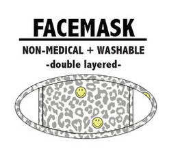 Pj Salvage PJ Adult Face Mask Smiley, Ivory