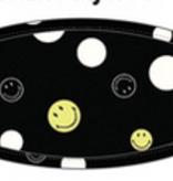 Adult Face Mask Smiley, Black