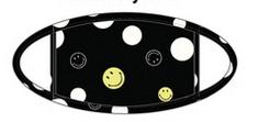 Pj Salvage Adult Face Mask Smiley, Black