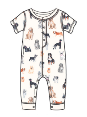 PJ Salvage Kids Romper Pawssible, Ivory