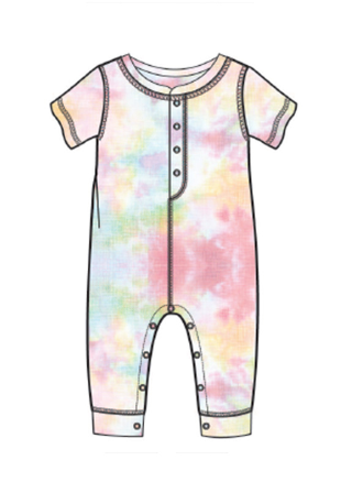PJ Salvage Kids Romper Rain LNG, Multi