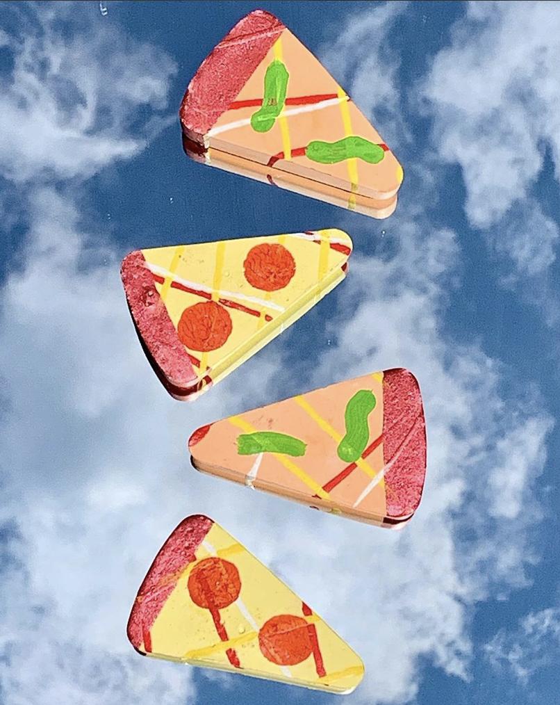 Twee Cheesy Pizza Sidewalk Chalk